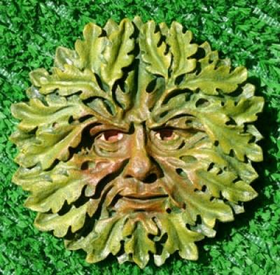 Oak Green Man - Green & Brown