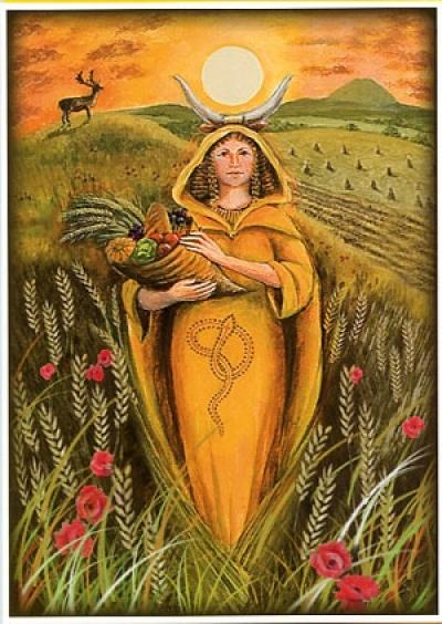 Mother Goddess at Lammas