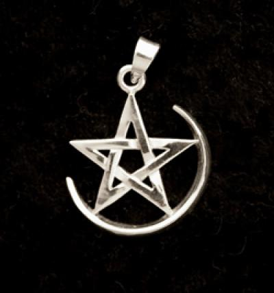 Pentagram with Crescent Moon