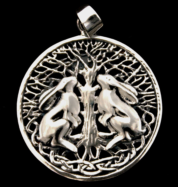 Hare & Tree Of Life Pendant
