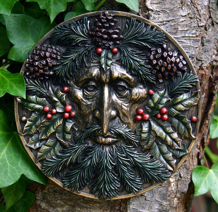 Winter Solstice Green Man Plaque