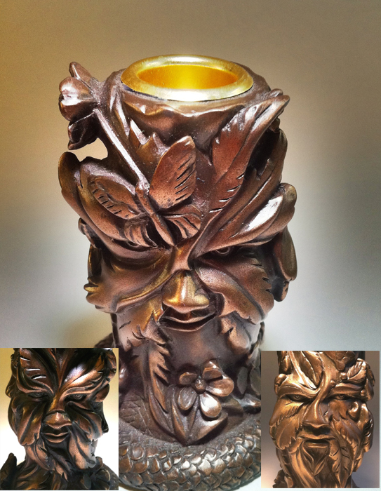 Green Man Candlestick
