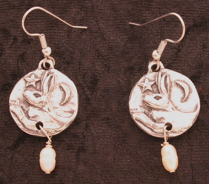 Moon Hare Earrings