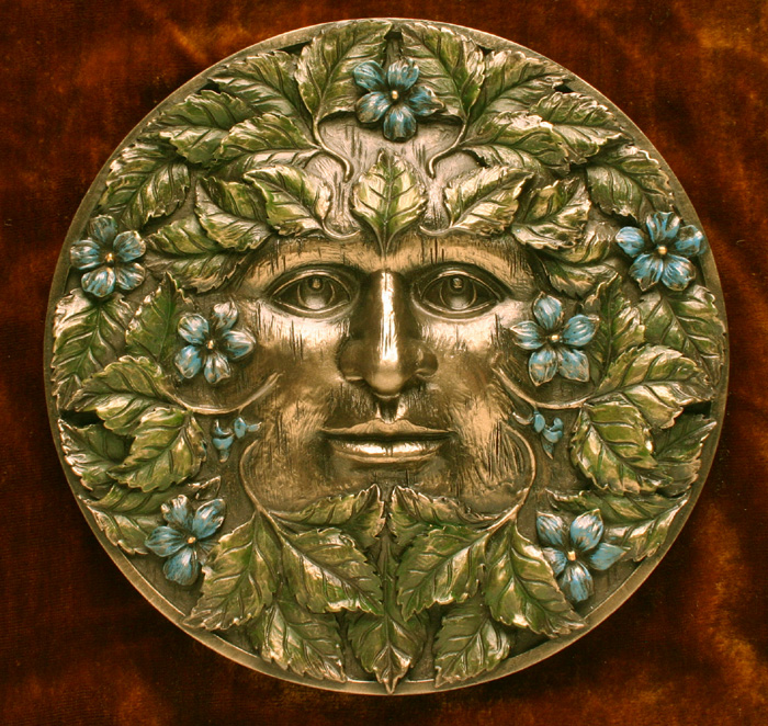 Beltane Green Man Plaque