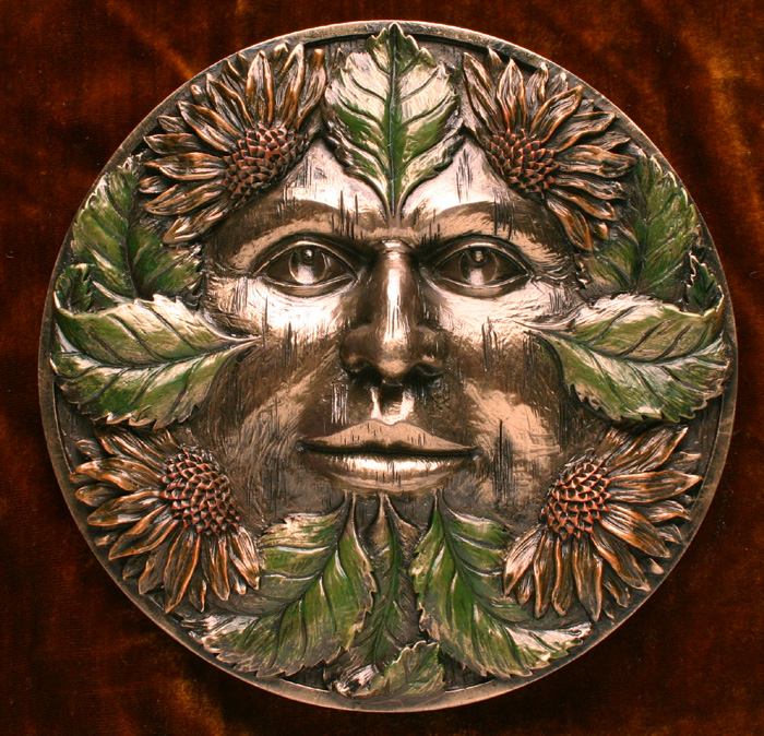 Midsummer Green Man Plaque