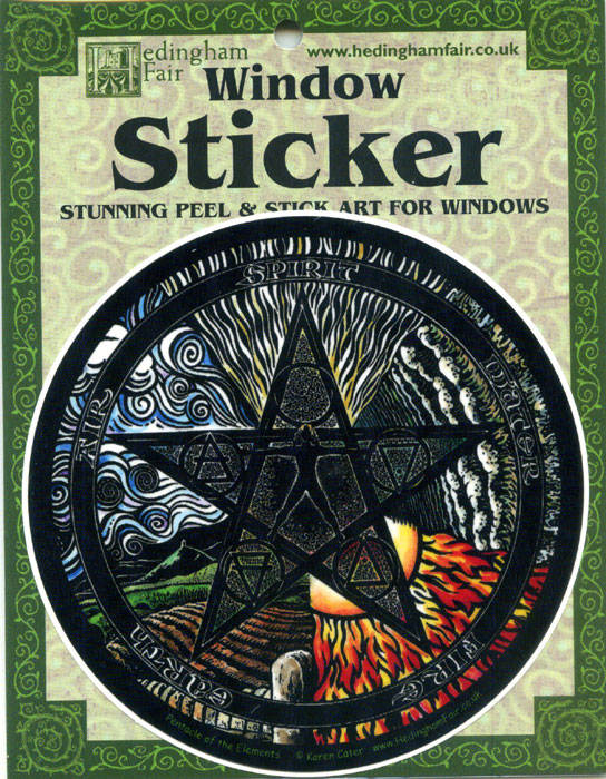 Window Sticker - Pentacle Of The Elements