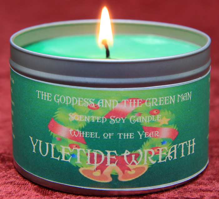 Yuletide Wreath Candle