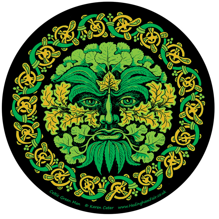 Window Sticker - Celtic Green Man