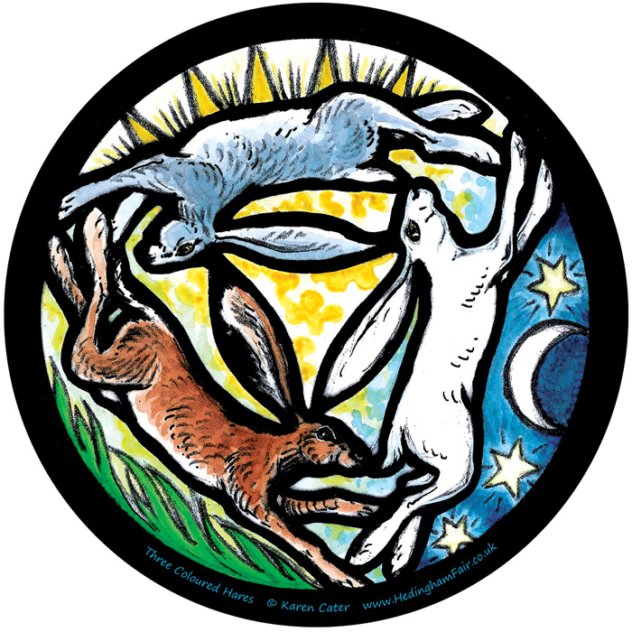 Window Sticker - Triple Moon Hares