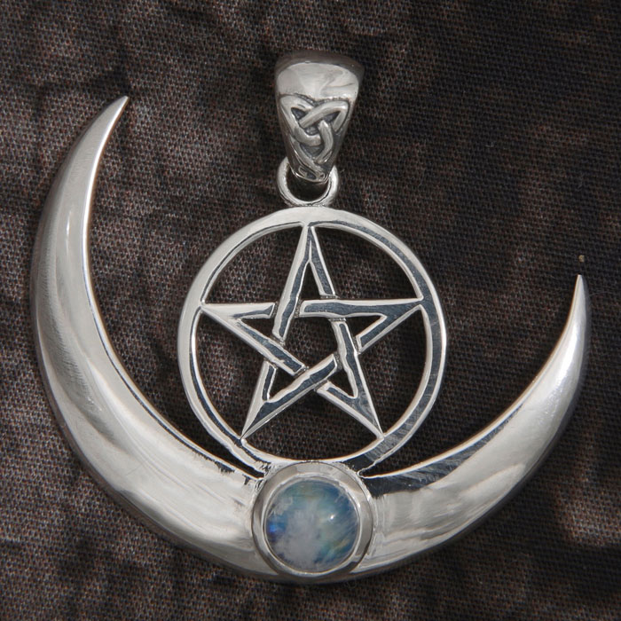 Pentacle On The Moon Pendant