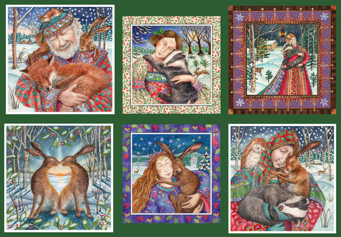 Love & Hugs Yule Card Set