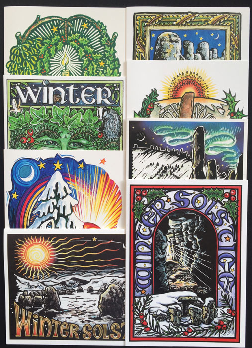 Winter Solstice Card Set - Pack of 8 cards.