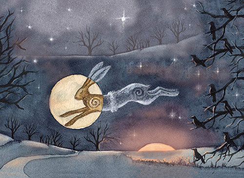 Luna Moon Hare at the Winter Solstice