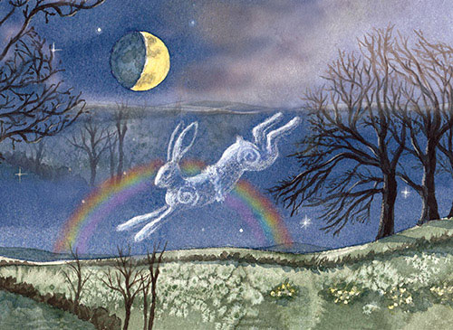 Luna Moon Hare at the Spring Equinox