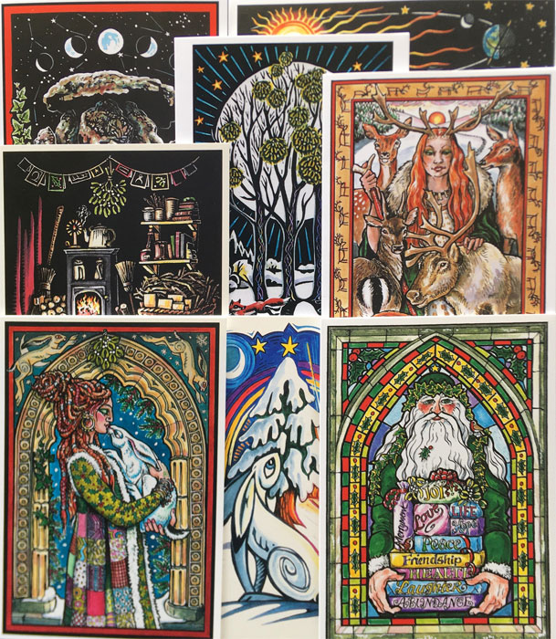 Yule Card Set - pack of 8 assorted cards