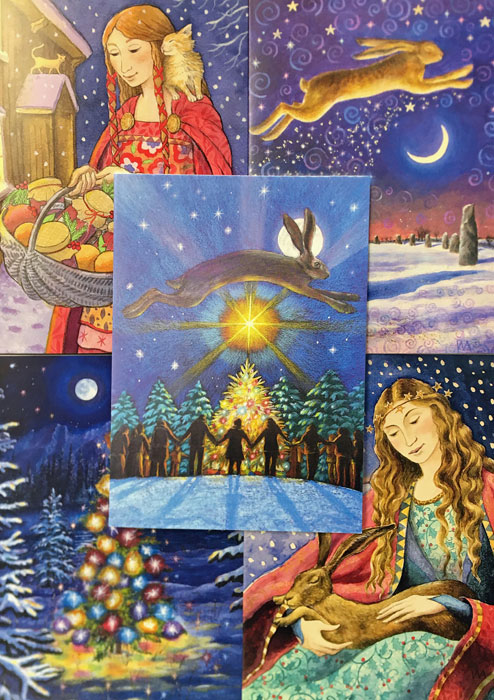 Yuletide Magic - Pack of 5 Assorted Cards