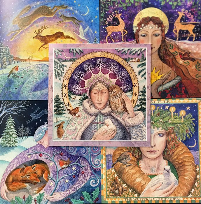 Winter Solstice Goddess - Pack of 5 Assorted Cards