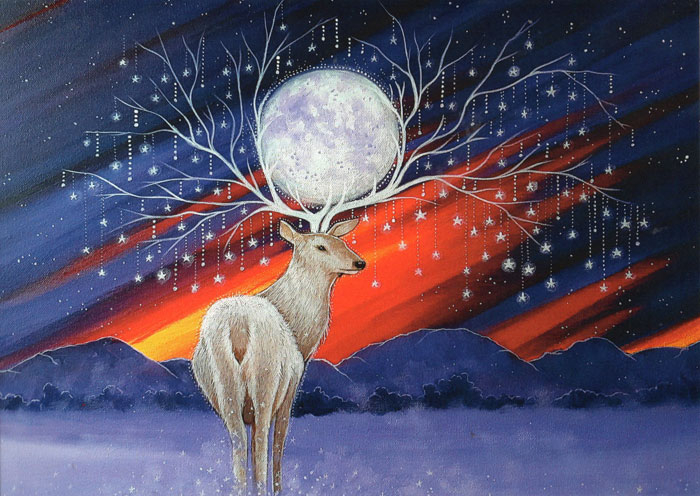 Mystical Stag - Pack of 5 Cards